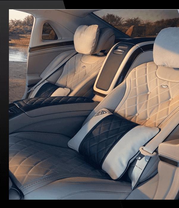 Les sièges comfortables des mercedes de HLS Limousine, Limousine Genève