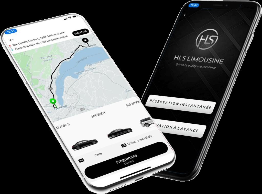 Notre application HLS App chauffeur privé